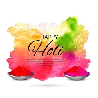 Illustration bunten glücklichen holi-hintergrundes für festival der farbfeier