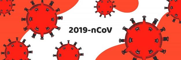 Illustration. coronavirus-ausbruch. abstract 2019-ncov banner