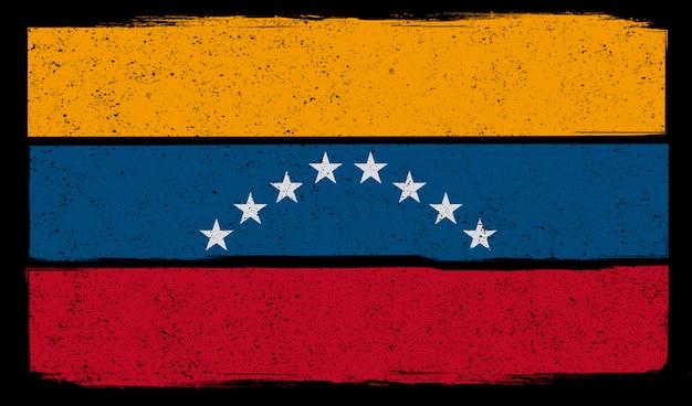 Illustration der abgenutzten flagge von venezuela