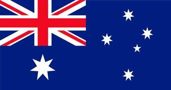 Illustration der Australien-Flagge