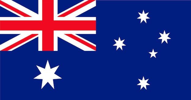 Illustration der australien-flagge