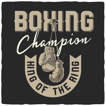 Illustration der boxhandschuhe.