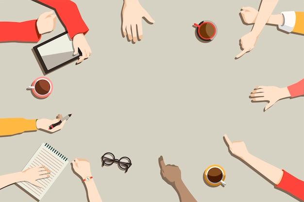 Illustration der brainstorming teamwork