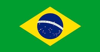 Illustration der Brasilien-Flagge