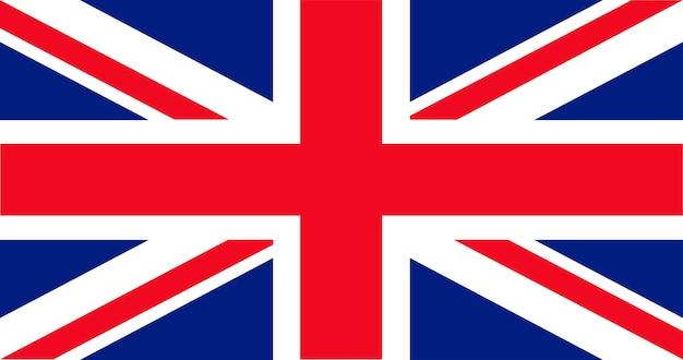 Illustration der britischen flagge