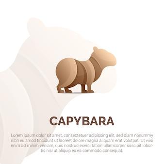 Illustration der bunten capybara-logoschablone.