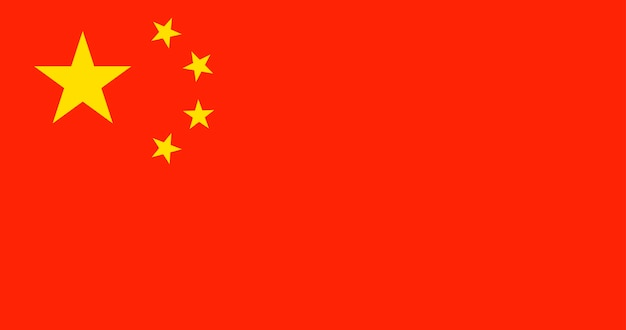 Illustration der china-flagge