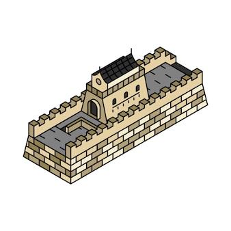 Illustration der Chinesischen Mauer