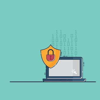 Illustration der cyber-netzwerksicherheit
