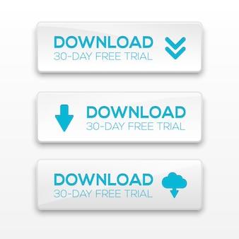 Illustration der download-schaltflächen.