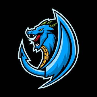 Illustration der drachen e-sport maskottchen grafik