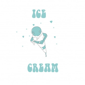 Illustration der eiscreme