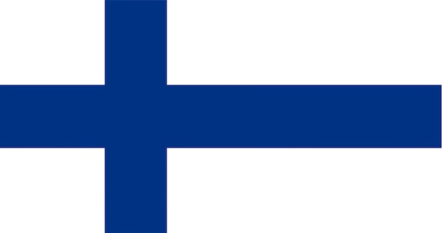 Illustration der finnland-flagge