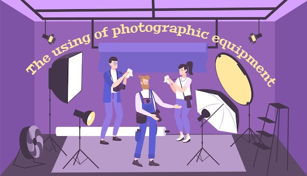 Illustration der fotografischen ausrüstung