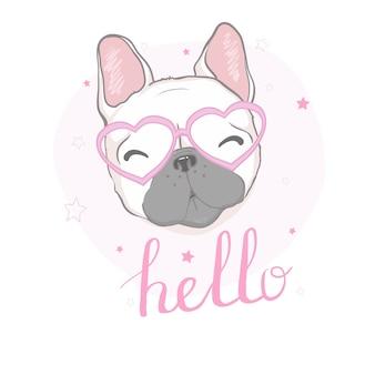 Illustration der französischen bulldogge