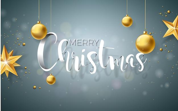 Illustration der frohen weihnachten auf gray background