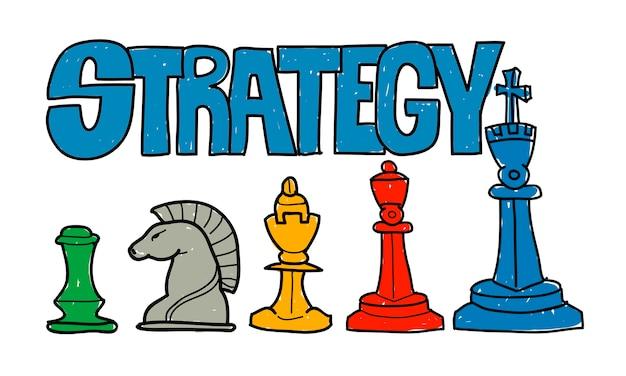 Illustration der geschäftsstrategie