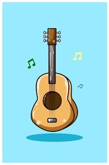 Illustration der gitarre
