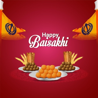 Illustration der glücklichen vaisakhi-feier-grußkarte