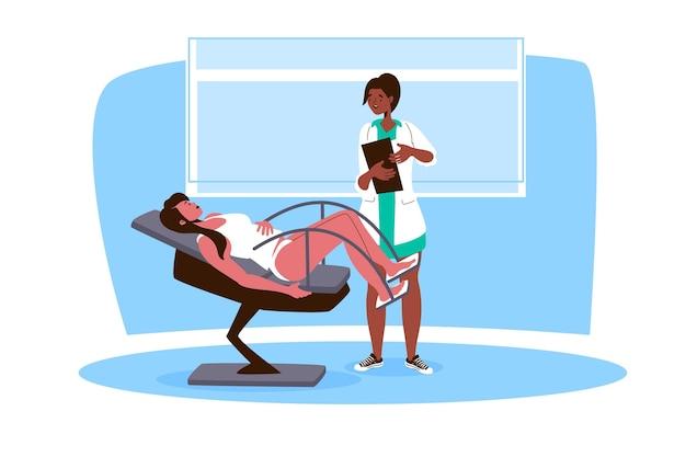 Illustration der gynäkologischen beratung