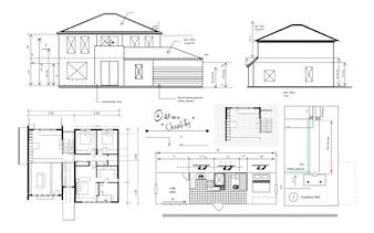 Illustration der Hausplanung