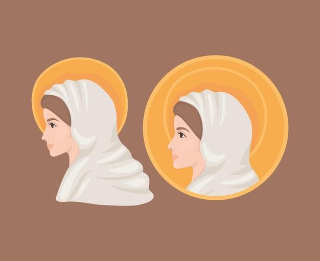 Illustration der heiligen maria