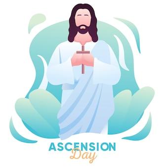 Illustration der himmelfahrt jesu christi