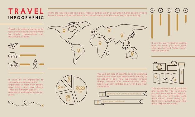 Illustration der infographic schablone