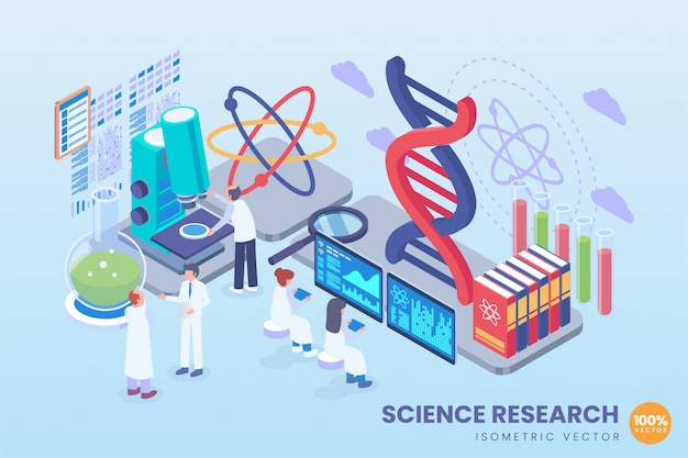 Illustration der isometrischen wissenschaftsforschung
