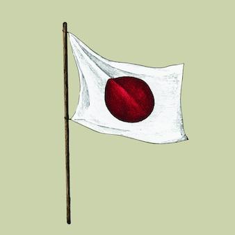 Illustration der japanischen flagge