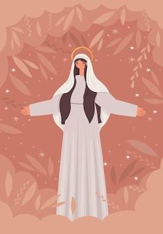 Illustration der jungfrau maria