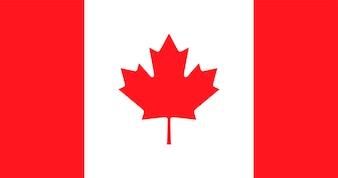 Illustration der Kanada-Flagge