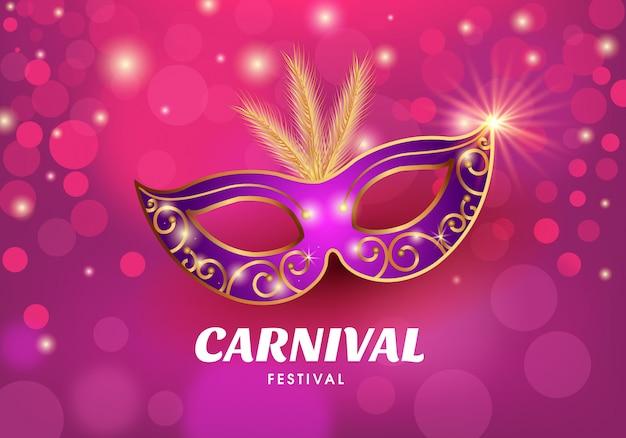 Illustration der karnevalmaske