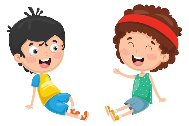Illustration der kinder spielen