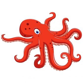 Illustration der krakentierkarikatur