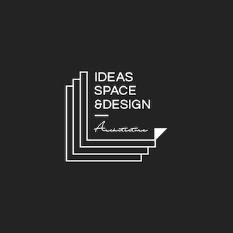 Illustration der kreativen designerstempelfahne