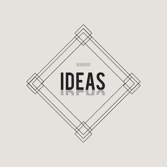 Illustration der kreativen Ideenkonzeptikone