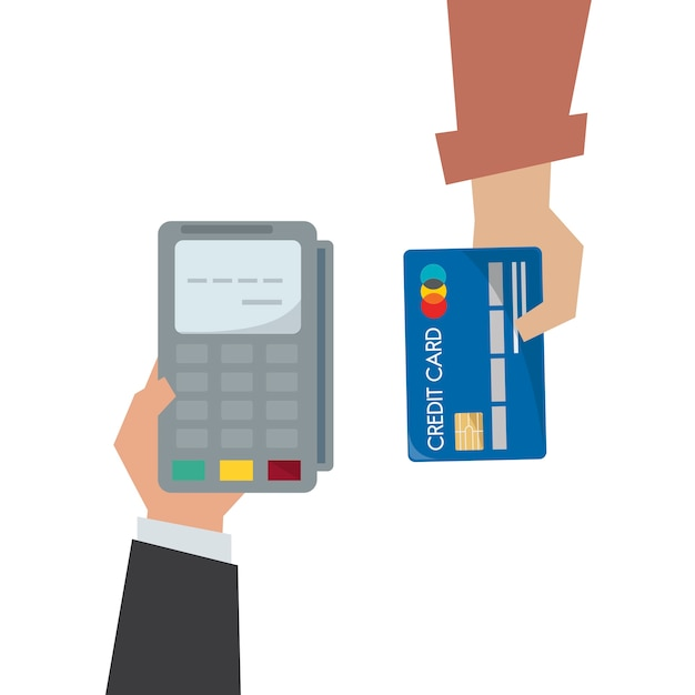 Illustration der kreditkartenzahlung