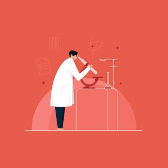 Illustration der laborforschung