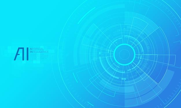 Illustration der landingpage für künstliche intelligenz