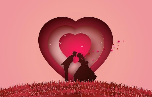 Illustration der liebe und des valentinstags.