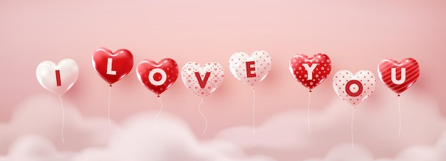 Illustration der liebe zum valentinstag