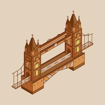 Illustration der london-brücke in großbritannien