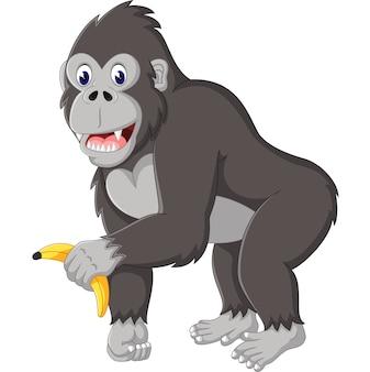 Illustration der lustigen gorillakarikatur