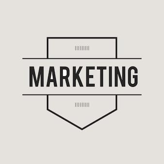 Illustration der marketing-fahne