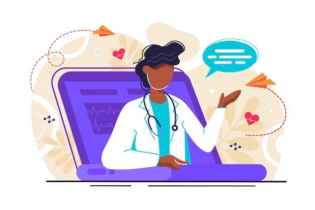 Illustration der medizinischen beratung