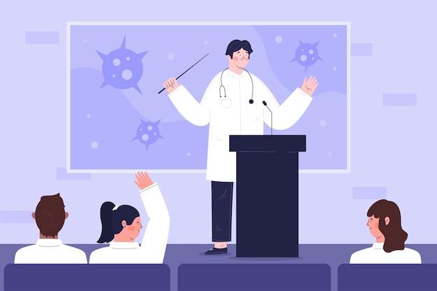 Illustration der medizinischen konferenz