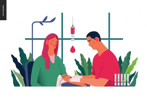 Illustration der medizinischen tests - bluttest