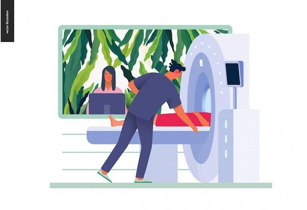Illustration der medizinischen tests - mrt