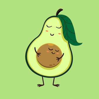 Illustration der mutter avocado